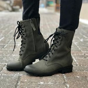 NWT SOREL Phoenix Lace Up Moto Combat Boot